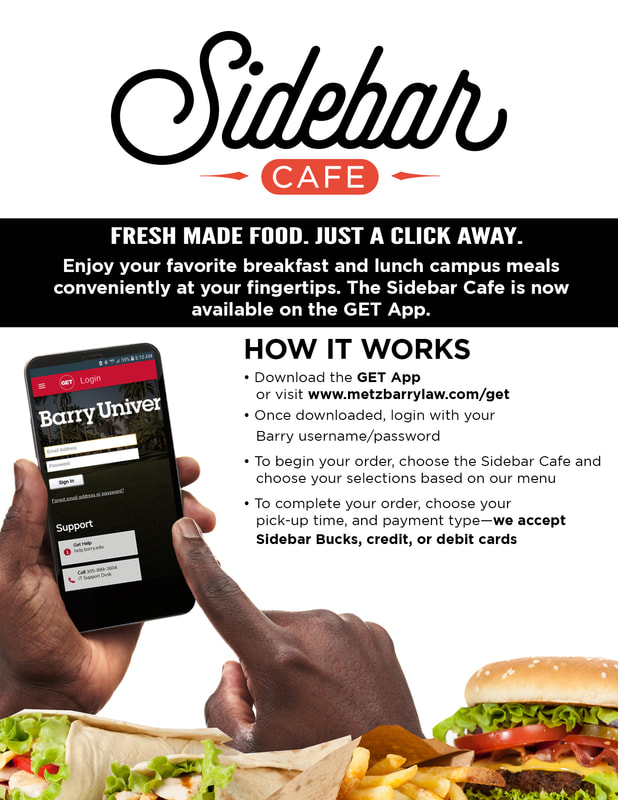 Sidebar Cafe app flyer. To learn more, see a team member.
